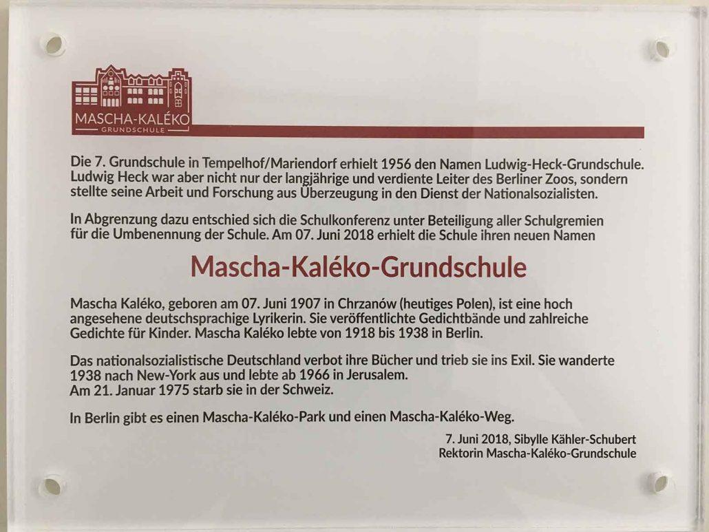 Mascha Kaléko Grundschule Berlin Mascha Kaléko Grundschule